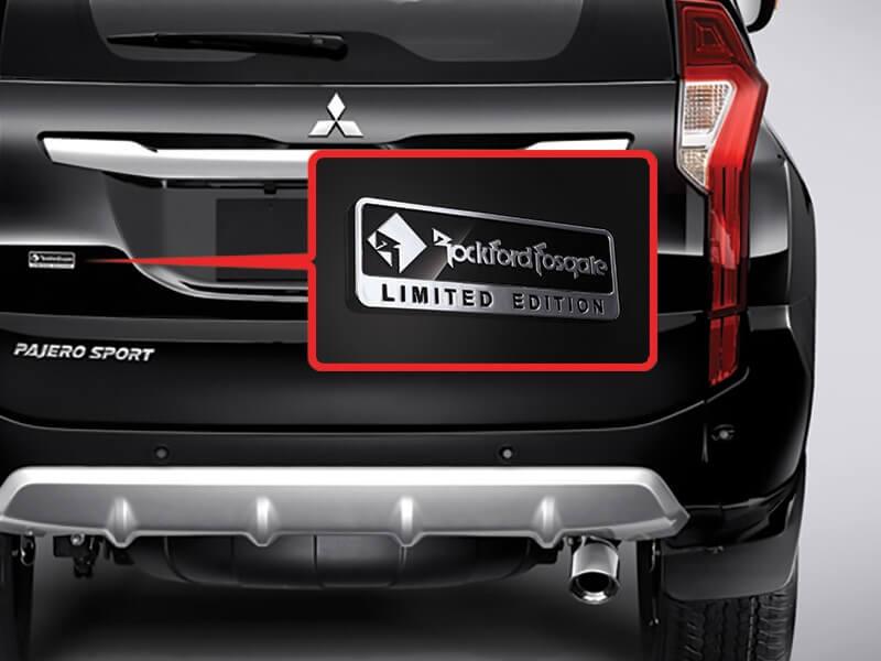 Mitsubishi Pajero Sport Rockford Fosgate-emblem